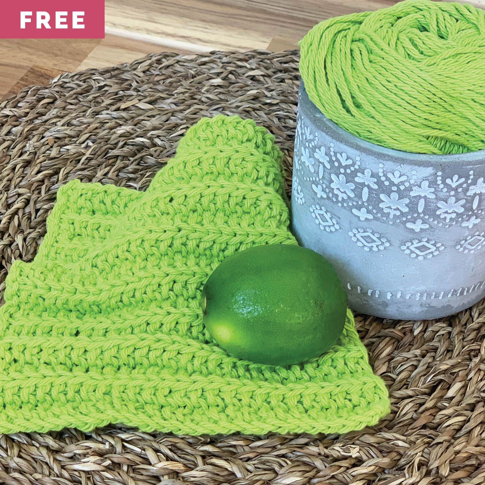 Free Knitting Pattern - No Purl Dishcloth