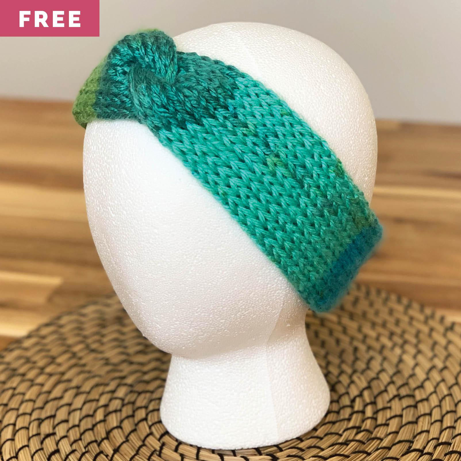 Free Knitting Pattern - Twisted Stockinette Stitch Headband