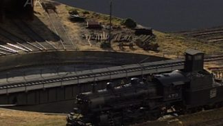 rural model train scenery