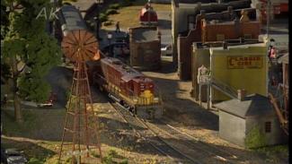 working on a model railroad