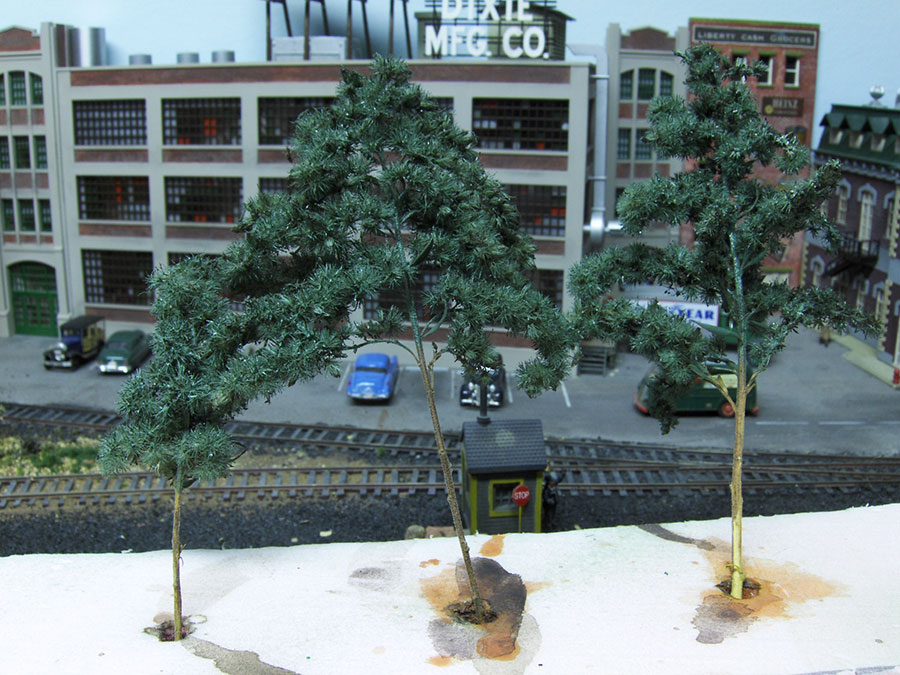making model railroad trees from goldenrods-5