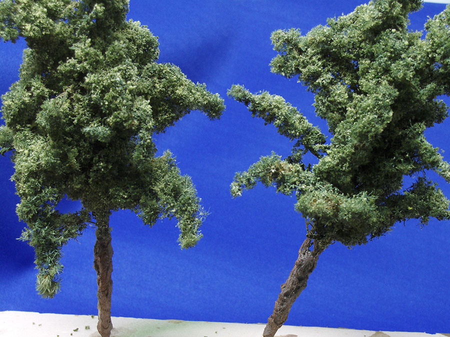 making model railroad trees from goldenrods-8