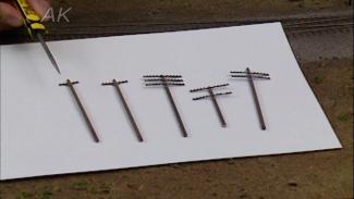 Applying Model Railroad Telephone Poles