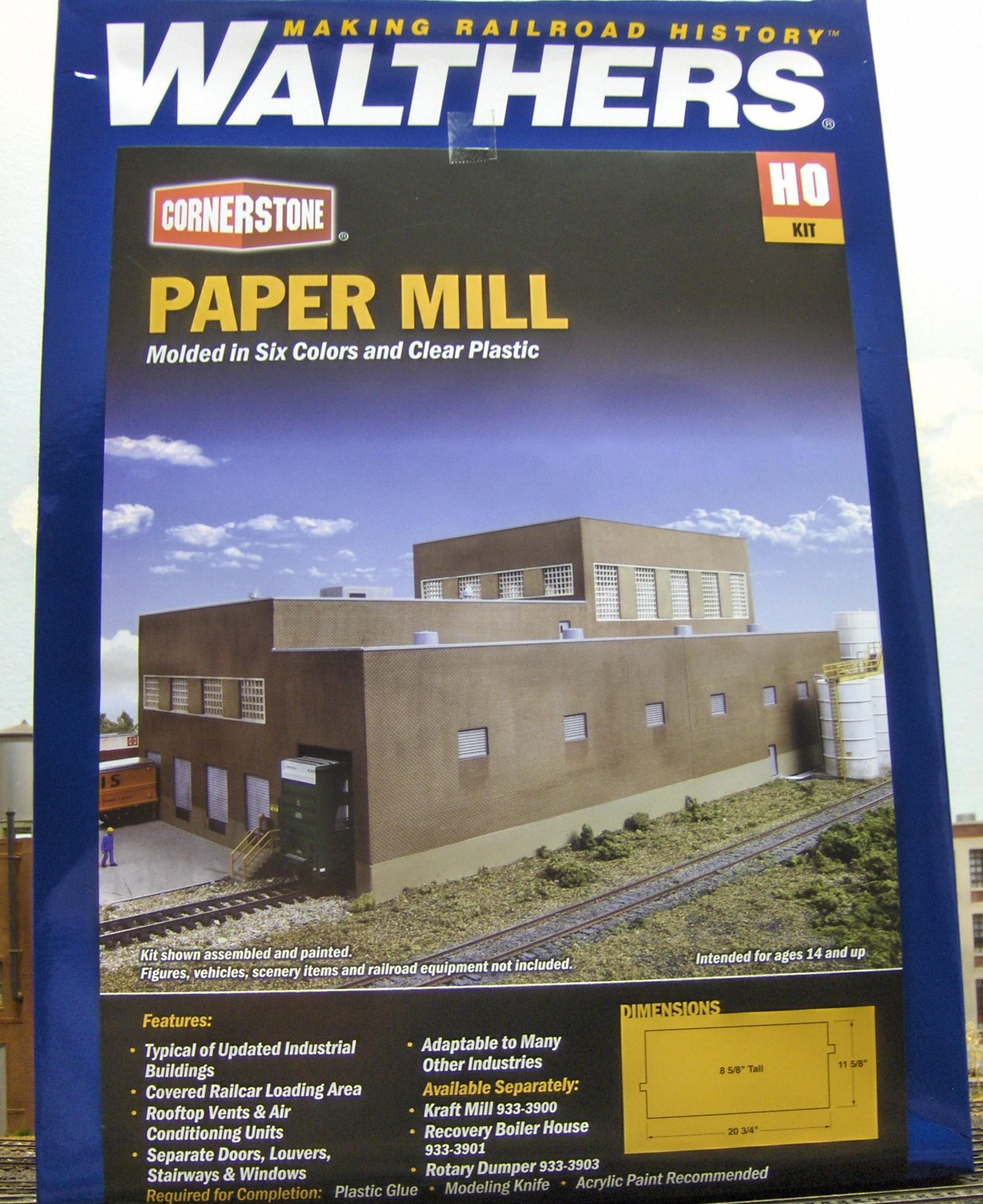 model railroad kit paper mill
