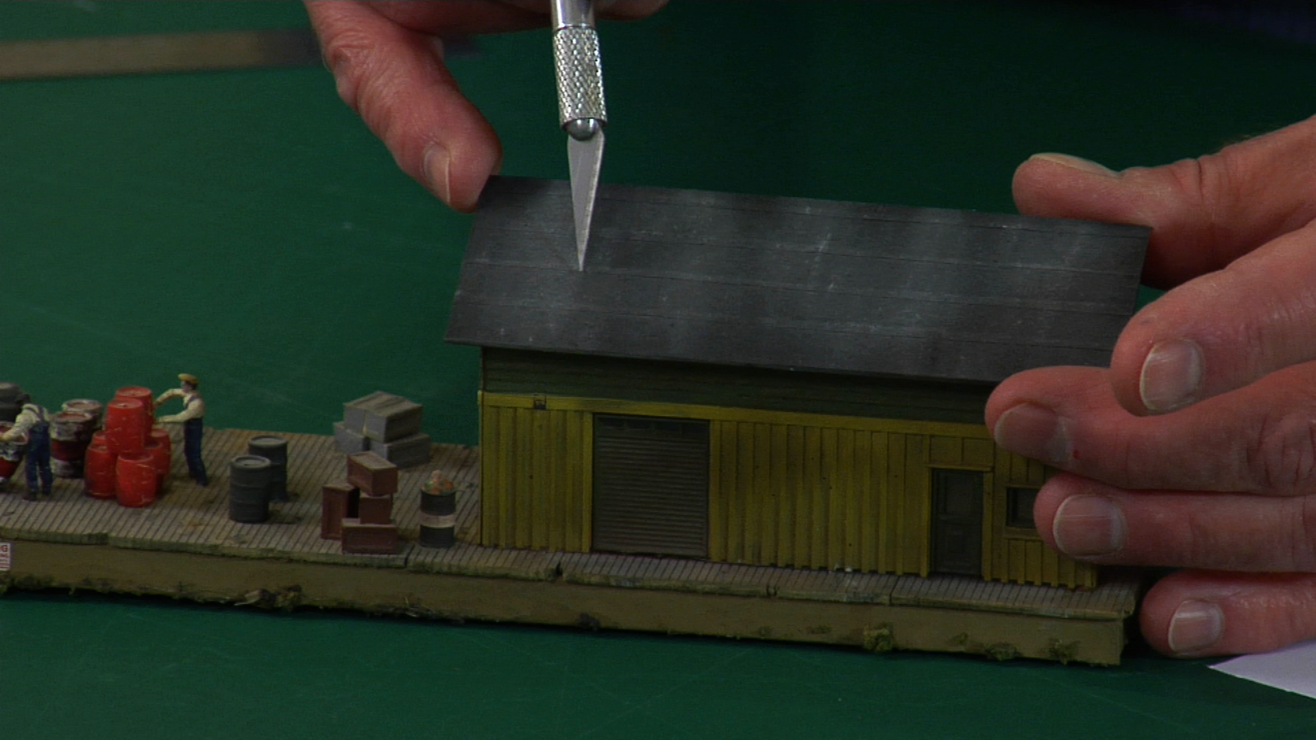How To Make Rolled Model Railroad Roofing