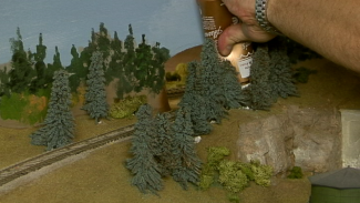 Hide Holes with Model Railroad Landscape