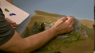 Painting Model Railroad Backdrops: Blending Scenery