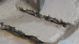 Creating a River with Plaster