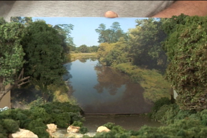Disguising your scenery backdrop joint model railroad - Model railroad backdrops ...
