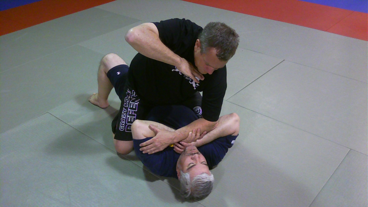 An attack that shows how easy it is to control the person on bottom and prevent them from using foul tactics.