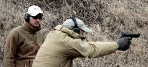 Author instructs students for recoil management