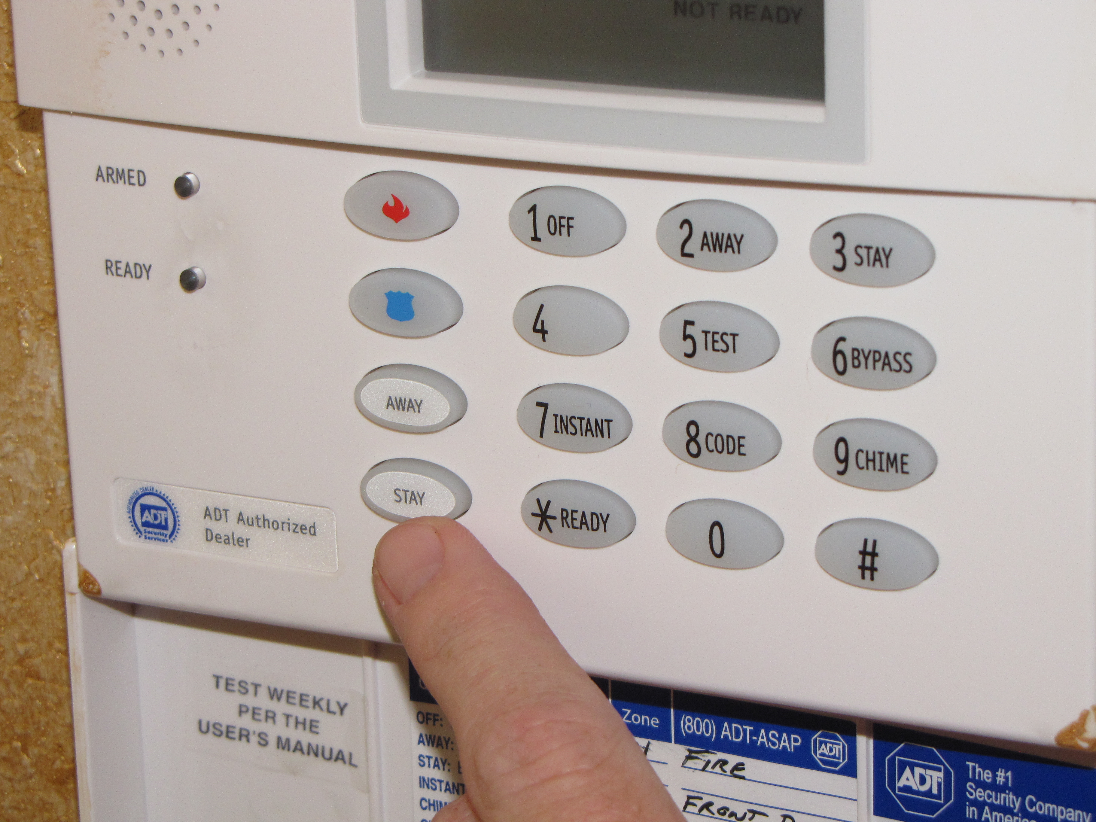 Image of an alarm system
