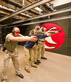 Image of rob training students defensive handgun techniques