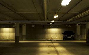 dark garage