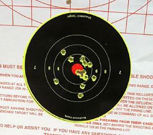 image of shooting target bullseye