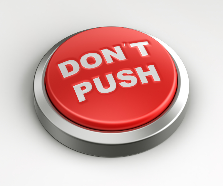 Whatever you do, don't push this button. Photo: Istockphoto.com