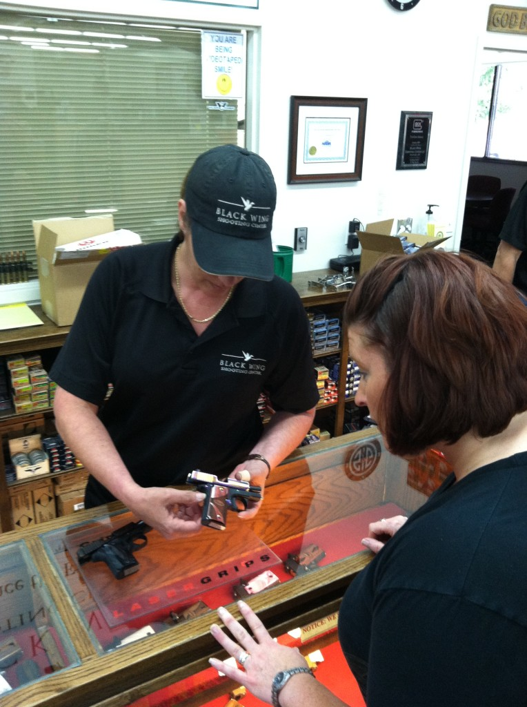 Some ranges have male and female employees to assist you with questions or purchases - Female Firearms Training