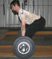 The dead lift movement is done every time we pick something up off the ground. When done correctly it causes the greatest contraction of the muscles of the core.