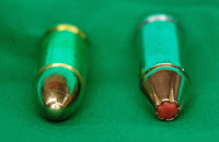 9mm full metal jacket round and new polymer tip hollow-point round also in 9mm.