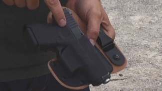 Leather Kydex Combo Appendix Holster