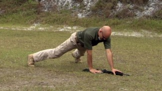 Advanced FitShot Exercise: Rifle Burpee