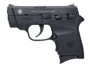 S&W Bodyguard .380 has usable sights AND integrated laser.