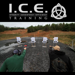 Image of ICE training and two men shooting targets
