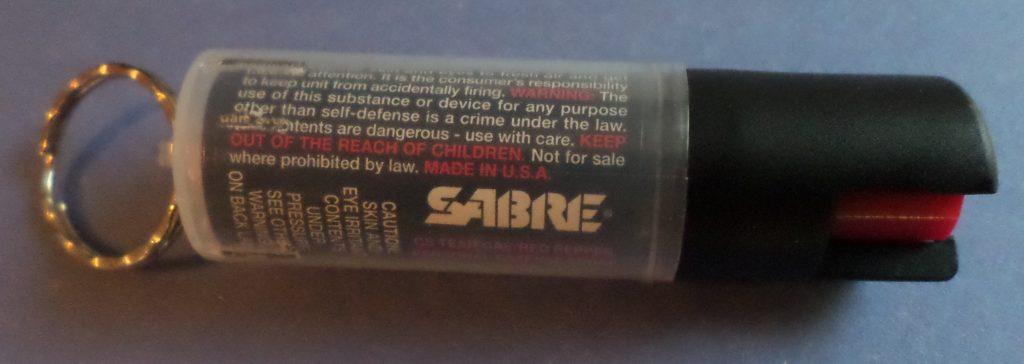 less lethal defensive tool: pepper spray