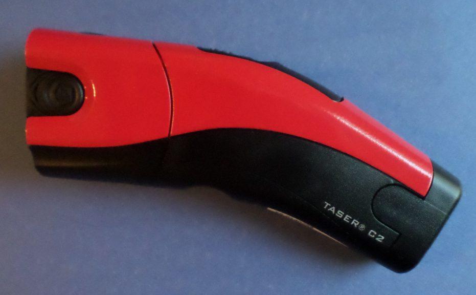 less-lethal defensive tool: taser
