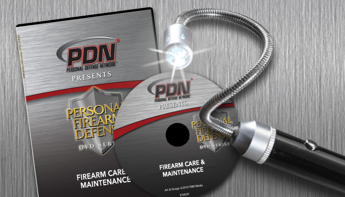 Firearm Care & Maintenance DVD with Magnetic Bore Light ...