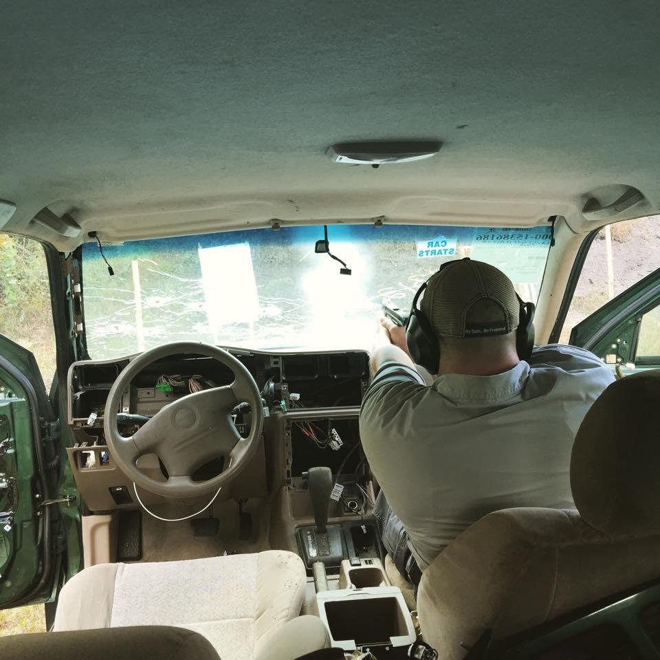 firing inside vehicle