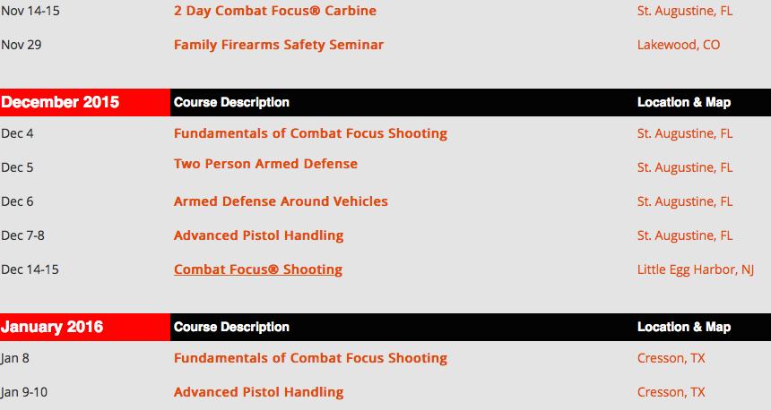 self defense training courses