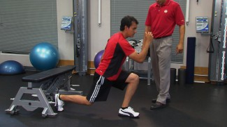 Golf Fitness Exercises: Split Stance Jumps