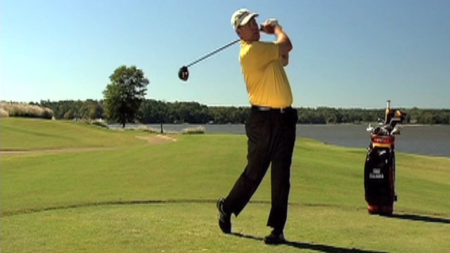 how to drive a golf ball straight video