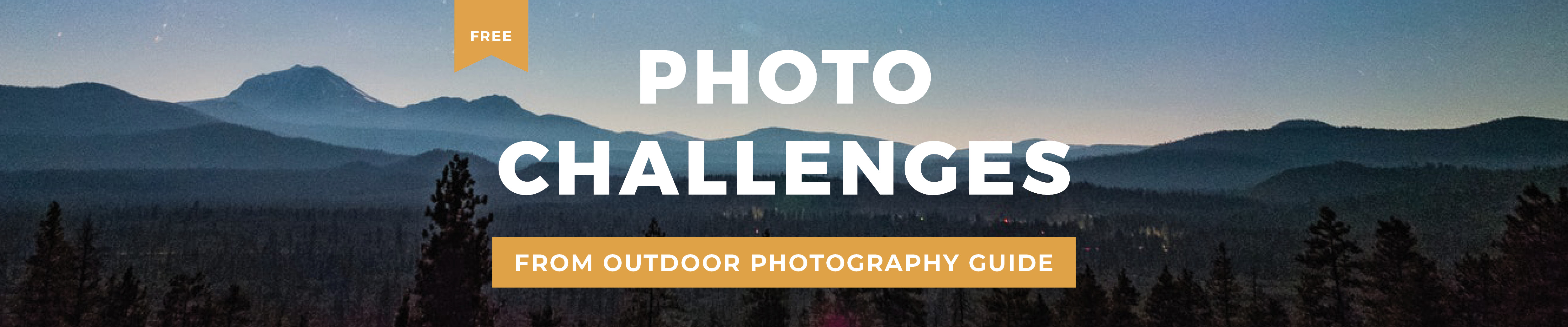 Free Photo Challenges from Outdoor Photography Guide