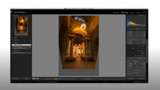 Vertical Lens Distortion Correction in Architecture Photos
