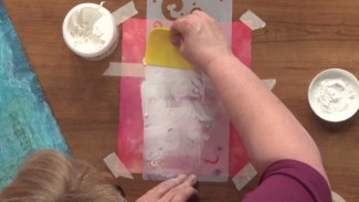 Quilting Stencils using Soft Modeling Paste