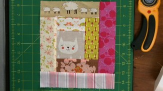 Log Cabin Quilt Squares with Scraps