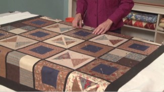 Basting a Quilt