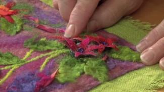 Flower Applique Using Silk Cocoons