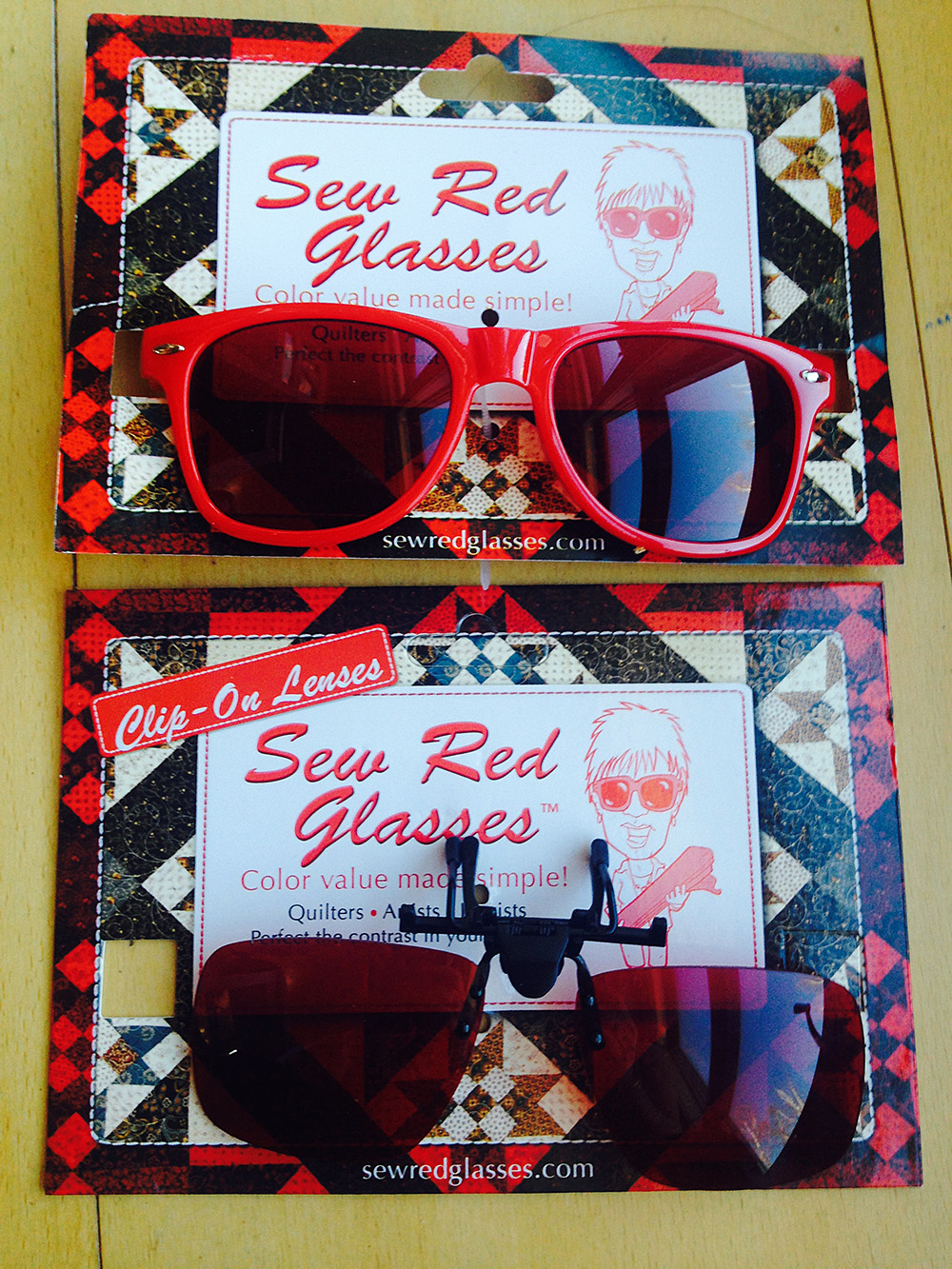 sew red glasses updated