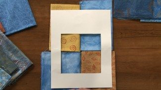 Use a Window to Audition Quilt Fabrics