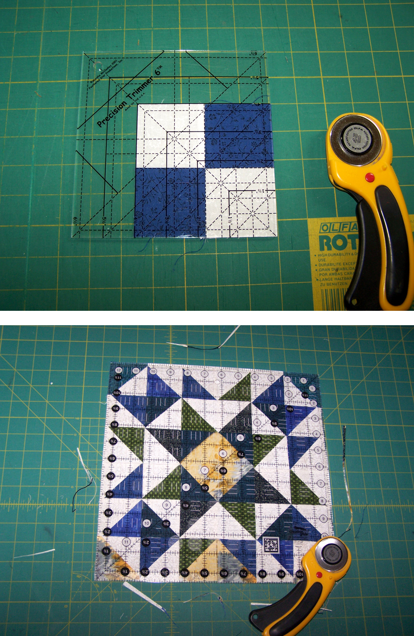 piecing squares 9&10