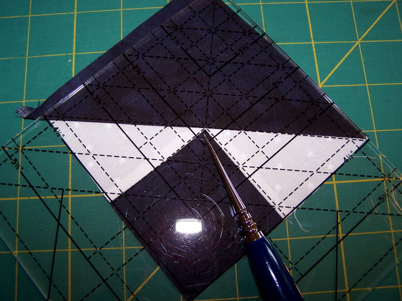 fancy half square triangle