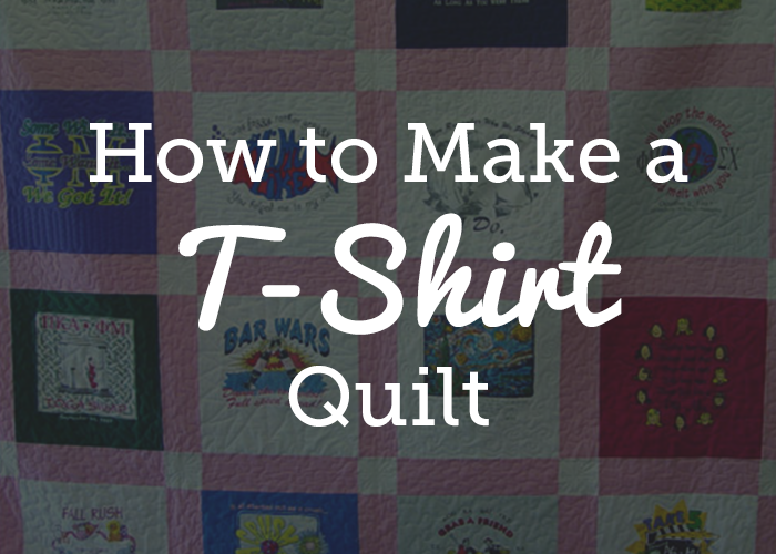 Quick And Easy T Shirt Quilt Tutorial National Quilters Circle