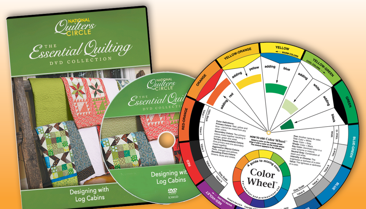 Designing With Log Cabins Dvd Free English Color Wheel