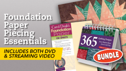 Foundation Paper Piecing Class + DVD, Foundation Paper & Book