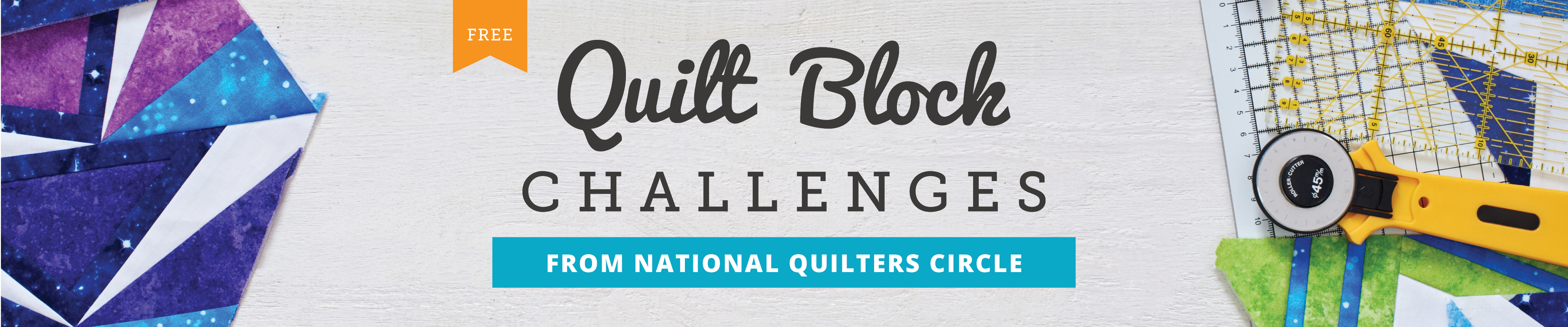 Free Quilt Block Challenges from National Quilters Circle