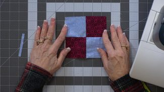 image of a four patch quilt block