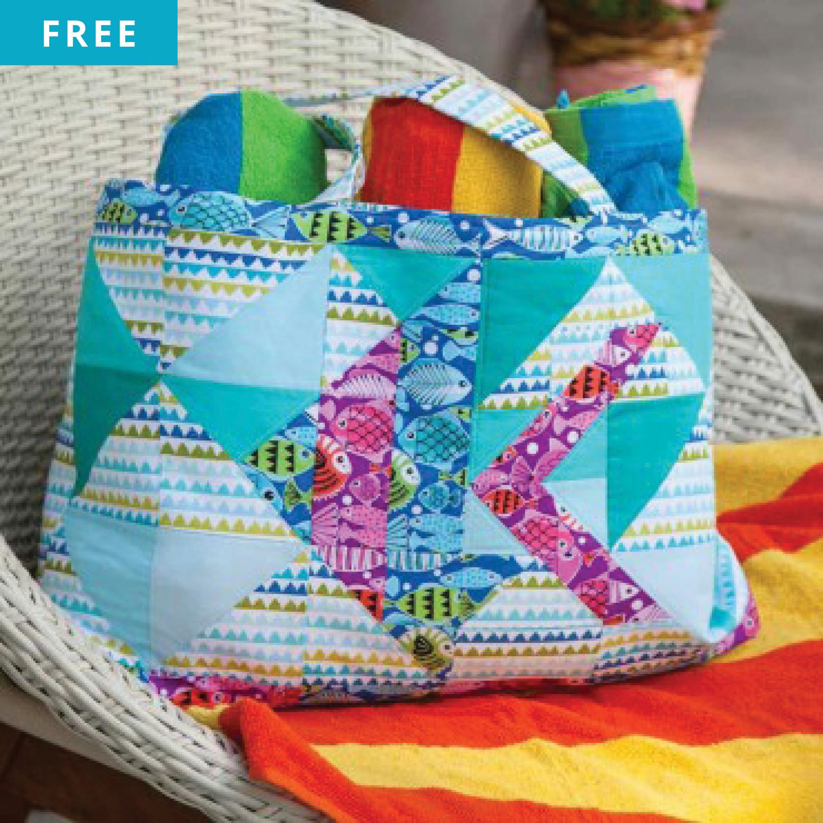 Free Quilt Pattern - Something's Fishy Beach Bag